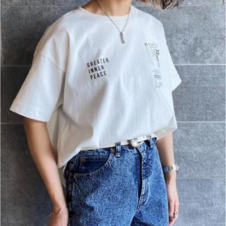 ジーナシス(JEANASIS)のチケットプリントTシャツ(Tシャツ/カットソー(半袖/袖なし))