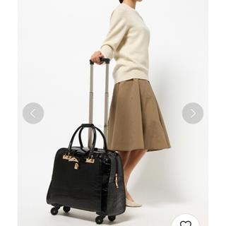 スリーフォータイム(ThreeFourTime)のお値引きOK☆スリーフォータイム☆クロコ型押しキャリーバッグ(スーツケース/キャリーバッグ)