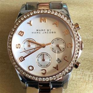 マークバイマークジェイコブス(MARC BY MARC JACOBS)のマークジェイコブス 時計 ヘンリー MBM3106 シルバー×ピンクゴールド(腕時計)
