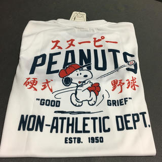 スヌーピー(SNOOPY)のスヌーピー  硬式野球 半袖Tシャツ Mサイズ(Tシャツ/カットソー(半袖/袖なし))
