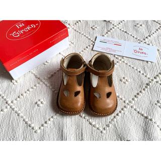 キャラメルベビー&チャイルド(Caramel baby&child )の☆美品☆  Eureka  ハイカット ワイド 革靴(その他)