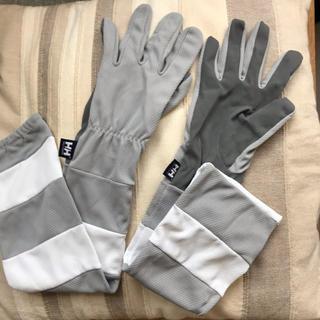ヘリーハンセン(HELLY HANSEN)のヘリーハンセン アームカバー付グローブ UV レディースL(手袋)