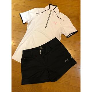 PUMA - プーマ ゴルフウェア レディース 黒 ショートパンツ ブラック Sサイズ 美品
