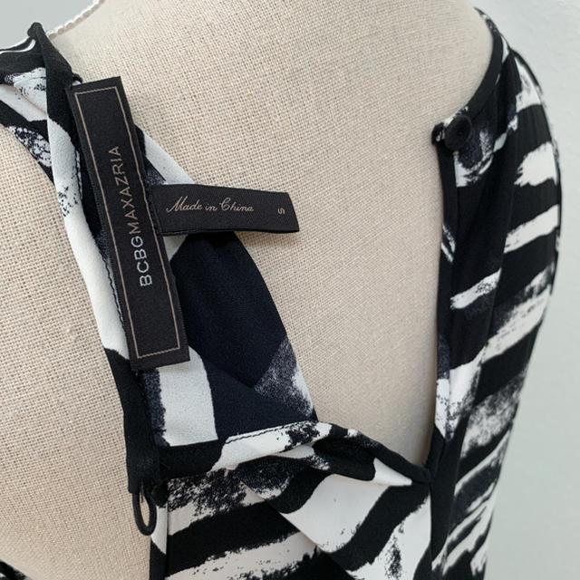 BCBGMAXAZRIA(ビーシービージーマックスアズリア)のBCBGMAXAZRIA シースルーノースリーブドレス サイズ0 レディースのワンピース(ロングワンピース/マキシワンピース)の商品写真