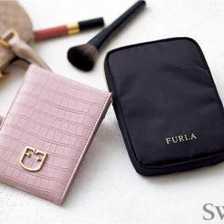 フルラ(Furla)の新品未使用 sweet 付録 フルラ ミラー(モノグラム)&ケース  FURLA(ミラー)