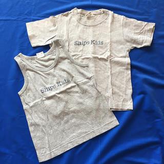 シップス(SHIPS)のSHIPSキッズシャツ2枚セット(Tシャツ/カットソー)