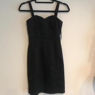 エイチアンドエム(H&M)の黒 ワンピース ドレス(ミニドレス)