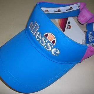 エレッセ(ellesse)の新品 ellesse サンバイザー フリーサイズ ブルーXピンク テニス(その他)