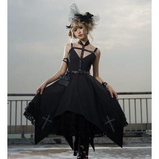 アンジェリックプリティー(Angelic Pretty)のゴッシク ロリータ  holy cross hunter 黒ジャンスカ(ひざ丈ワンピース)