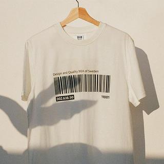 イケア(IKEA)のEFTERTRÄDA エフテルトレーダ Tシャツ, ホワイトS/M(Tシャツ(半袖/袖なし))