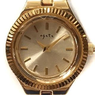 アガット(agete)のアガット 腕時計 レディース ゴールド(腕時計)