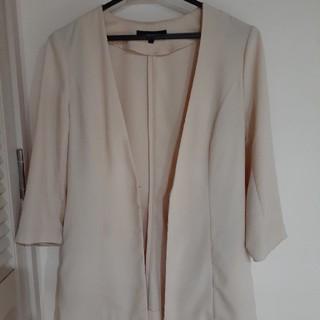 リエンダ(rienda)の七分袖ジャケット(ノーカラージャケット)