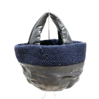 プラステ(PLST)のプラステ ハンドバッグ 合皮×ウール(ハンドバッグ)