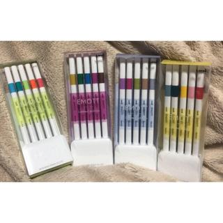 ミツビシエンピツ(三菱鉛筆)のuni 限定カラーセット EMOTT リミテッドエディション 5色入4セット(ペン/マーカー)
