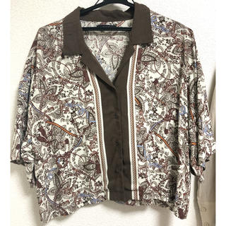 ジーナシス(JEANASIS)のスカーフカイキンシャツ(シャツ)