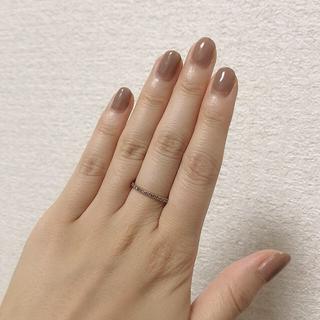 アガット(agete)のブラウンダイヤリング(リング(指輪))