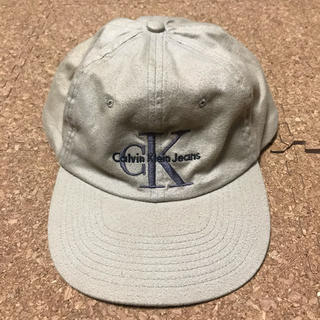 カルバンクライン(Calvin Klein)の90s カルバンクラインジーンズ キャップ 帽子 ビンテージ 古着 ユニセックス(キャップ)