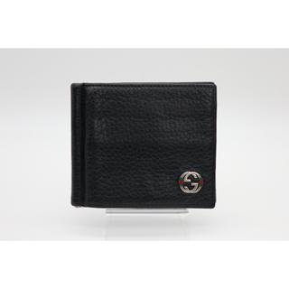 グッチ(Gucci)の《GUCCI/二つ折りマネークリップ》ABランク 308809 ブラック 美品(マネークリップ)