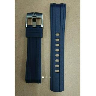 オメガ(OMEGA)の未使用品 OMEGA ラバーバンド+尾錠セット   20ミリ ネイビー(ラバーベルト)