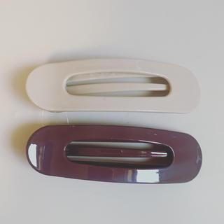 カスタネ(Kastane)の新品未使用◆ ヘアクリップ  2点セット ブラウン(バレッタ/ヘアクリップ)