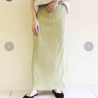 カプリシューレマージュ(CAPRICIEUX LE'MAGE)のカプリシュレマージュ  サテンプリーツスカート(ロングスカート)