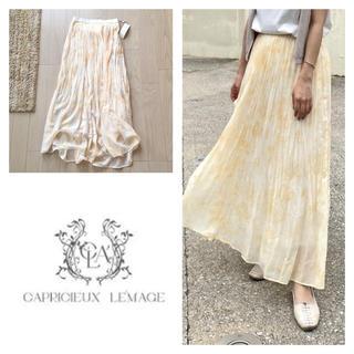 カプリシューレマージュ(CAPRICIEUX LE'MAGE)の新品 カプリシューレマージュ タイダイワッシャーロングスカート(ロングスカート)