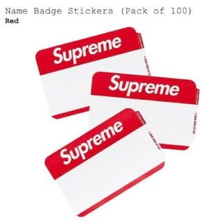 シュプリーム(Supreme)のSupreme Name Badge Stickers(ノート/メモ帳/ふせん)