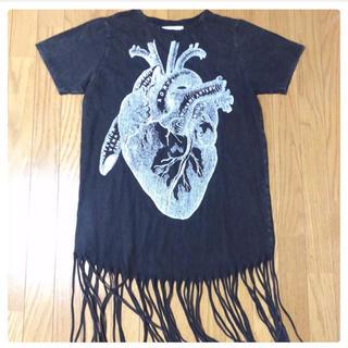FUNKY FRUIT 心臓ロングシャツ