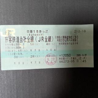 ジェイアール(JR)の青春18きっぷ4回分(鉄道乗車券)