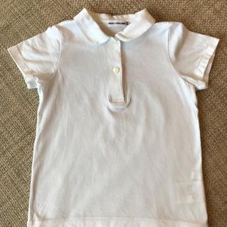 ミキハウス(mikihouse)のミキハウス 白ブラウス 半袖 100cm(ブラウス)