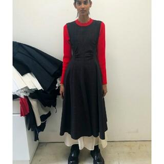 エンフォルド(ENFOLD)のEnfold T/Wチェック カットオフ ドレス ワンピース(ロングワンピース/マキシワンピース)