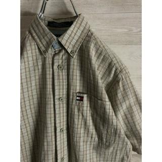 トミーヒルフィガー(TOMMY HILFIGER)のTOMMY HILFIGER ヴィンテージ チェックシャツ 半袖(ブラウス)
