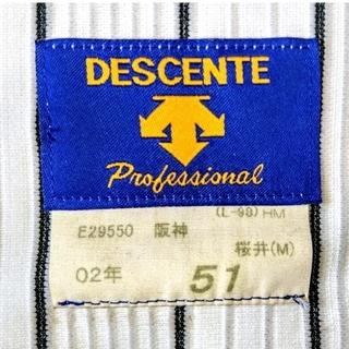デサント(DESCENTE)の【希少 プロモデル サイン入り】阪神 タイガース 桜井 ユニフォーム  サイズM(応援グッズ)