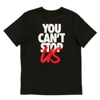 サカイ(sacai)のNIKE × sacai Tシャツ You Can't Stop Us 黒 L(Tシャツ/カットソー(半袖/袖なし))