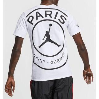 ナイキ(NIKE)の稀少【L】PSG Jordan ロゴ Tシャツ パリサンジェルマン(Tシャツ/カットソー(半袖/袖なし))