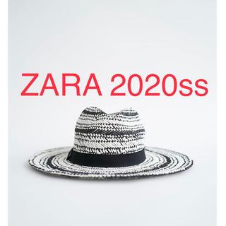 ザラ(ZARA)の新品未使用 ZARA ザラ 麦わら帽子 編み帽子(麦わら帽子/ストローハット)