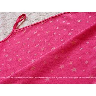 イング(INGNI)の未着用★韓国購入!星模様がかわいらしいピンクのキャミソール/M(キャミソール)