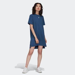 アディダス(adidas)のトレフォイル ワンピース ナイトマリン Tシャツ もうすぐ終わり(ひざ丈ワンピース)