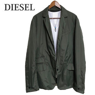 ディーゼル(DIESEL)のDIESEL テーラードジャケット カーキナイロンジャケットカジュアルジャケット(テーラードジャケット)