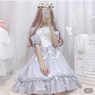 アンジェリックプリティー(Angelic Pretty)のロリィタ メイド服 可愛いワンピース 水色(ミニワンピース)