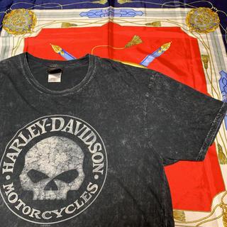 マスターマインドジャパン(mastermind JAPAN)のハーレーダビッドソン Tシャツ ウォッシュド加工 スカルTシャツ(Tシャツ/カットソー(半袖/袖なし))