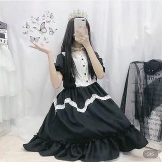 アンジェリックプリティー(Angelic Pretty)のロリィタ メイド服 可愛いワンピース ブラック(ミニワンピース)
