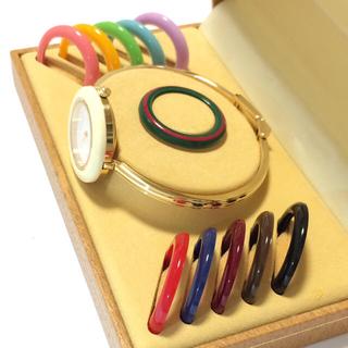 グッチ(Gucci)の5.美品 グッチ GUCCI 時計 チェンジベゼル(腕時計)