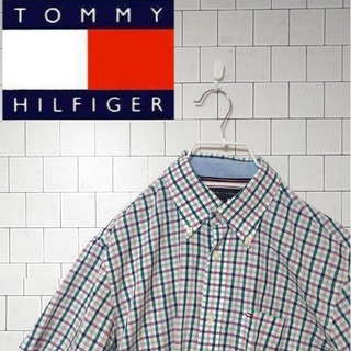 トミーヒルフィガー(TOMMY HILFIGER)の【TOMMY HILFIGER トミーヒルフィガー】半袖チェックシャツ(シャツ/ブラウス(半袖/袖なし))