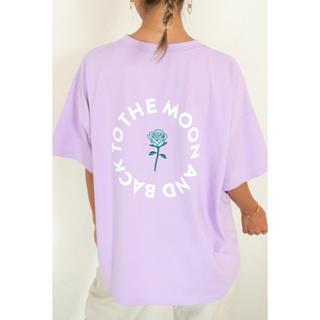 アリシアスタン(ALEXIA STAM)のRose Moon Tee Purple  (Tシャツ/カットソー(半袖/袖なし))