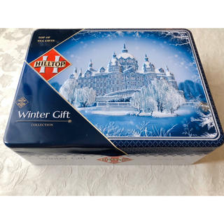 【未使用】ロシアンティー クリスマス限定缶Winter gift、4缶入り(茶)