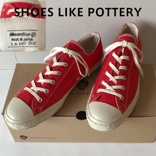 ムーンスター(MOONSTAR )のshoes like pottery 26cm レッド シューズライクポタリー(スニーカー)