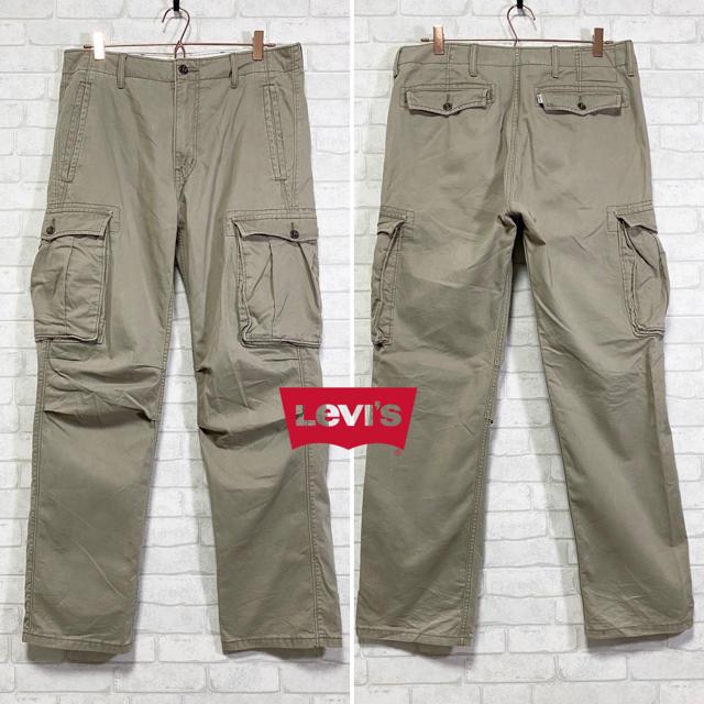 Levi's(リーバイス)の【Levi's】リーバイス カーゴパンツ カーキ/W32 L32 メンズのパンツ(ワークパンツ/カーゴパンツ)の商品写真