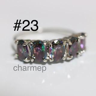 【OM052】5石のミスティックトパーズのようなリング指輪(リング(指輪))
