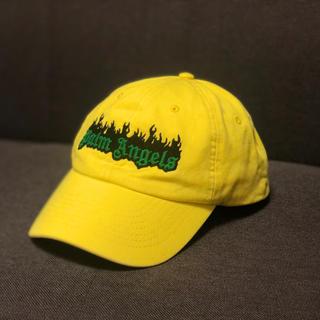 オフホワイト(OFF-WHITE)のPalm Angels Burning Logo Cap Yellow(キャップ)